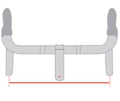 Handlebar width (on road frame)